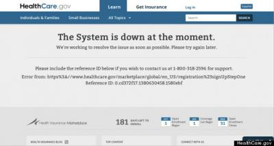 HealthCard gov system down