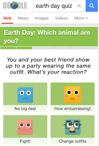 Google earth day quiz 1