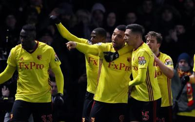 Troy Deeney scores Watford's winner CREDIT: REUTERS/DAVID KLEIN