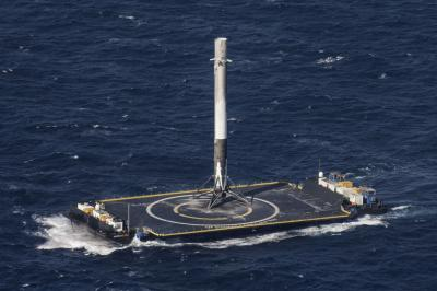 Falcon 9 on a drone ship
