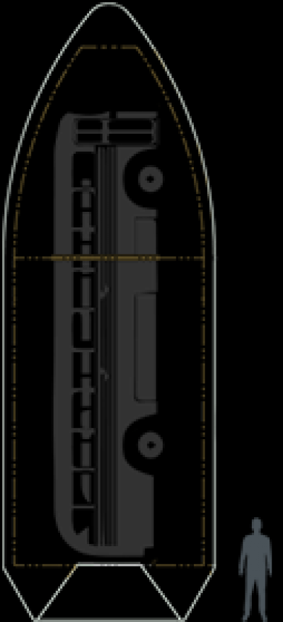 Falcon 9 fairing scale, man