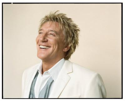 Rod Stewart, big smile