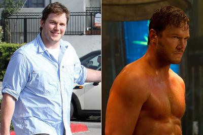 Chris Pratt, chubby before not so much after