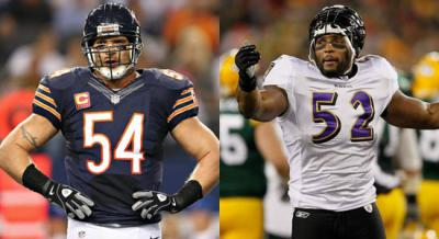 Ray Lewis and Brian Urlacher