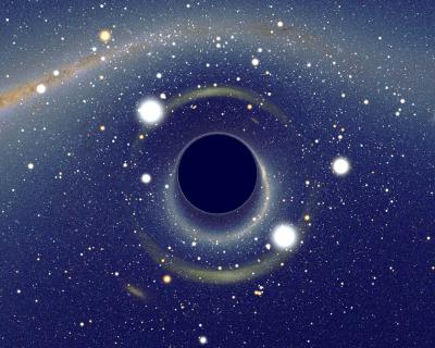 Artist's impression of a massive black hole. Image credit: Alain Riazuelo / CC BY-SA 2.5.