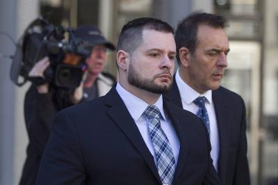Const. James Forcillo leaves court in Toronto on Monday, May 16, 2016