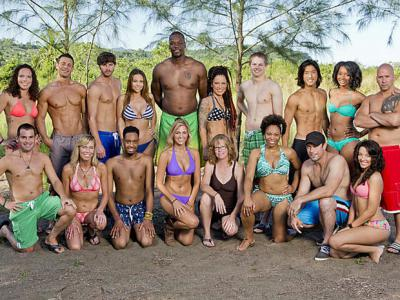 The 18 castaways competing on