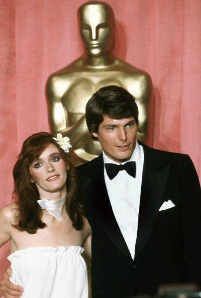 April 9, 1979, Margot Kidder, left, and Christopher Reeve, 51st Academy Awards, Los Angeles