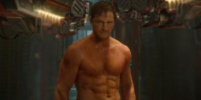 Chris Pratt shirtless, sweaty